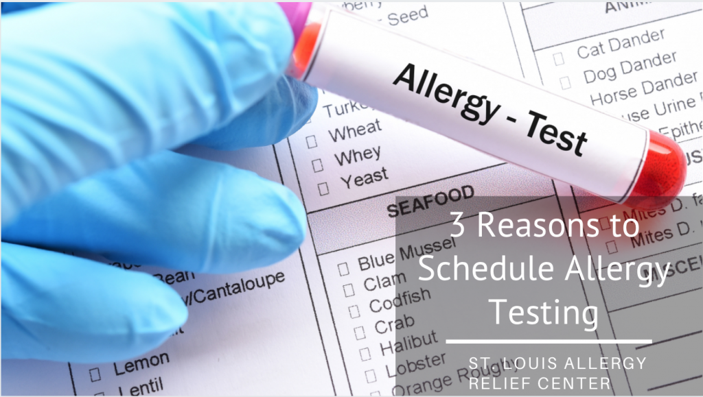 schedule allergy test