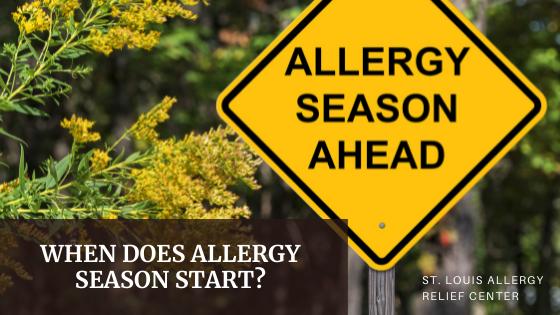 when does allergy season begin